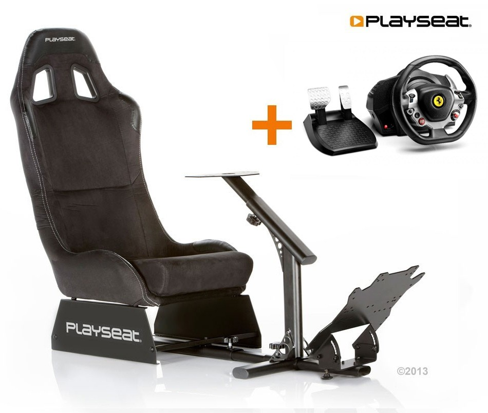 Tahirah Playseat Alcantara+TX Racing Wheel Ferrari 458 Italia Edition