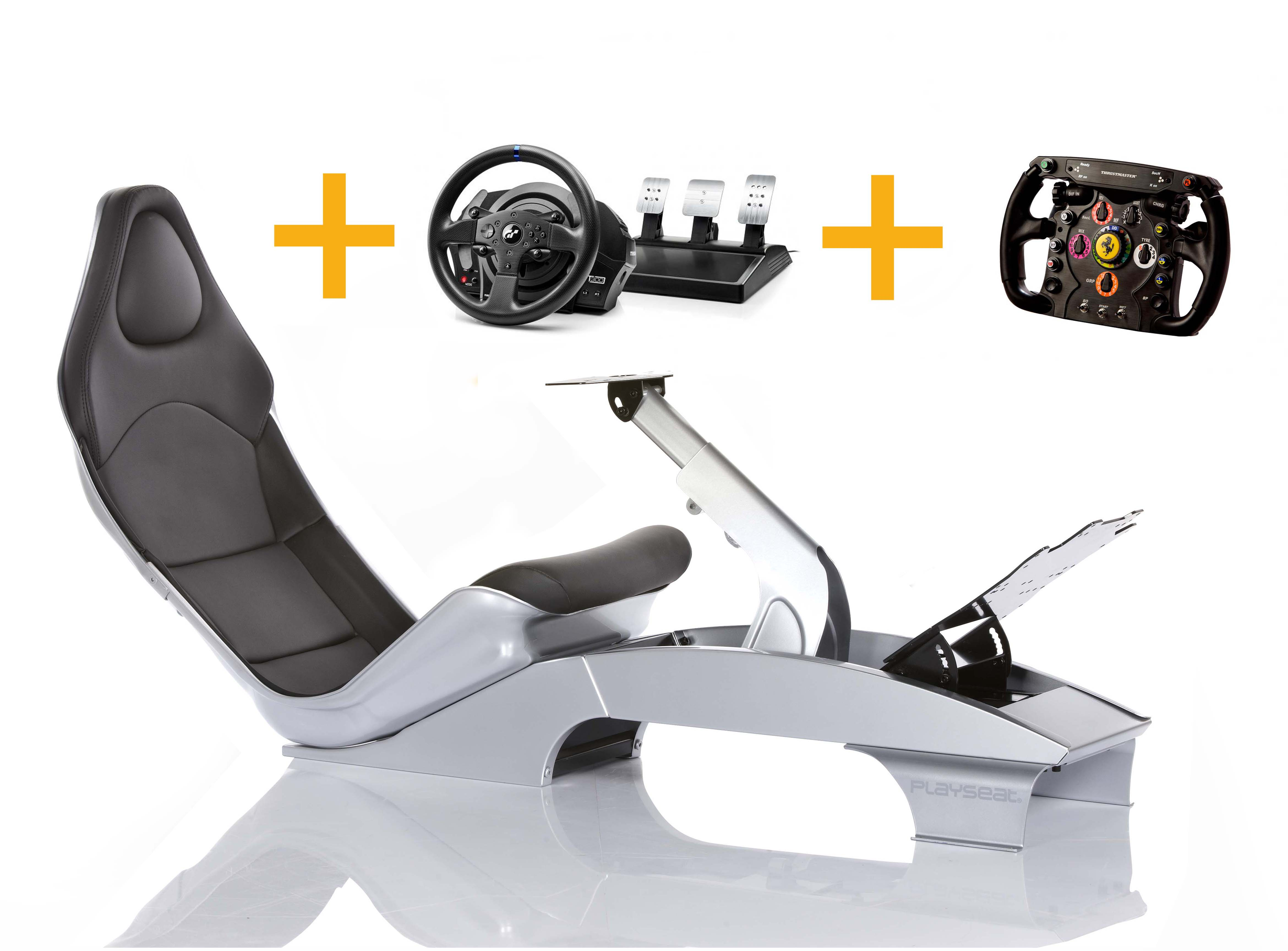 Playseat Playseat F1 Plata + T300 RS GT + Ferrari F1 Wheel add-on