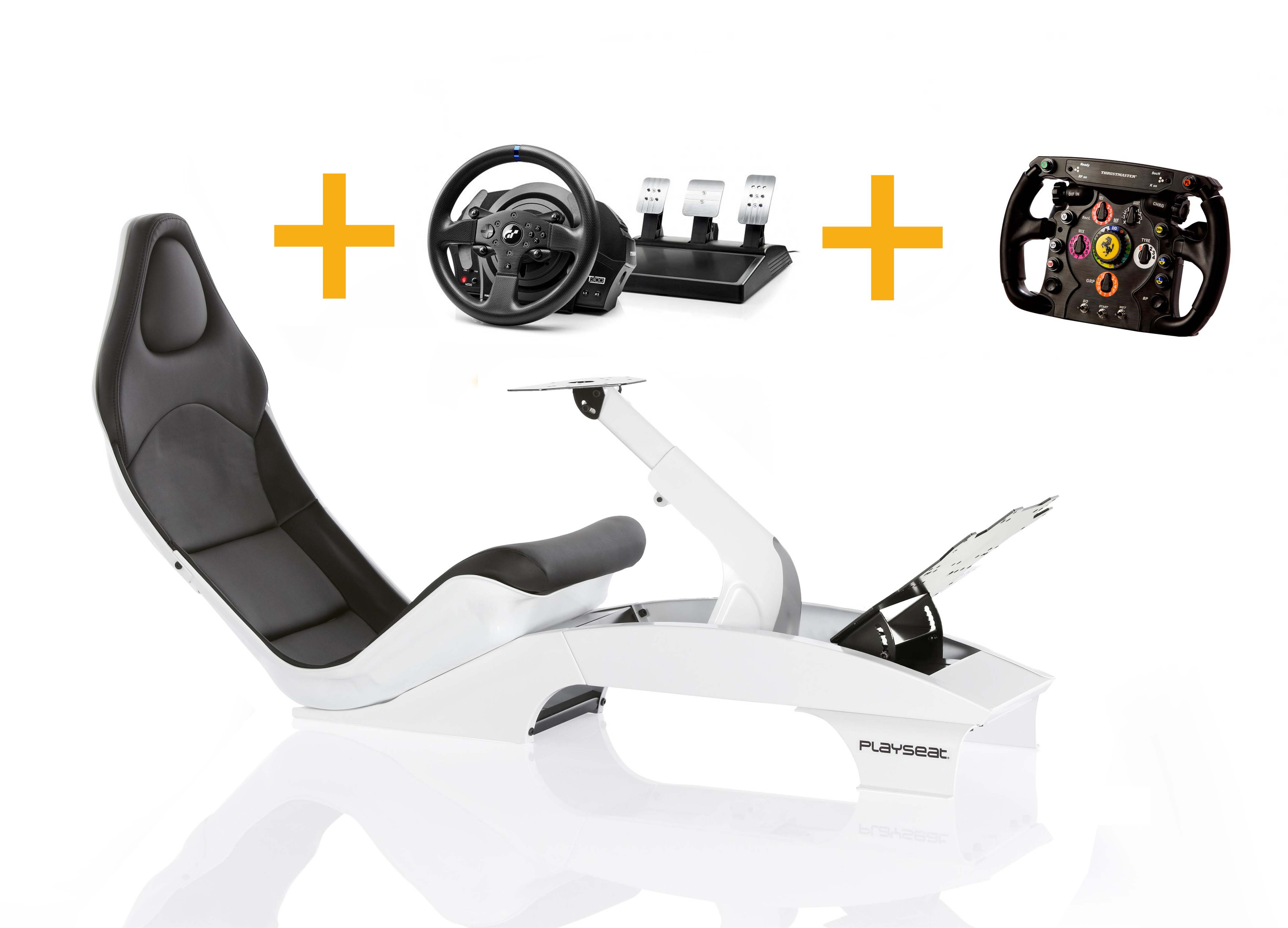 Playseat Playseat F1 White + T300 RS GT+ Ferrari F1 Wheel add-on